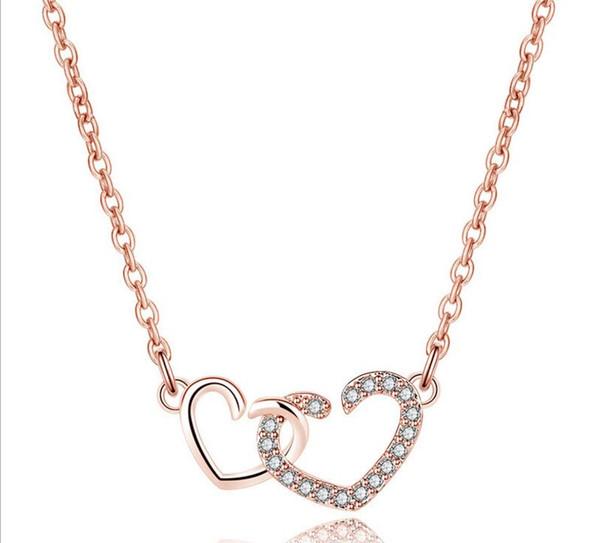 Austriaca Dichiarazione di cristallo del diamante del pendente di amore del cuore all'ingrosso collana donne ragazze Lady collana degli elementi di classe di moda
