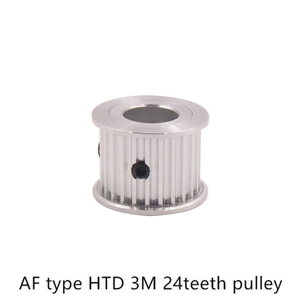 AF type 24 teeth 3M Timing Pulley Bore 8mm 10mm 12mm 14mm for HTD 3M Timing belt used in linear HTD3M pulley 24Teeth 24T