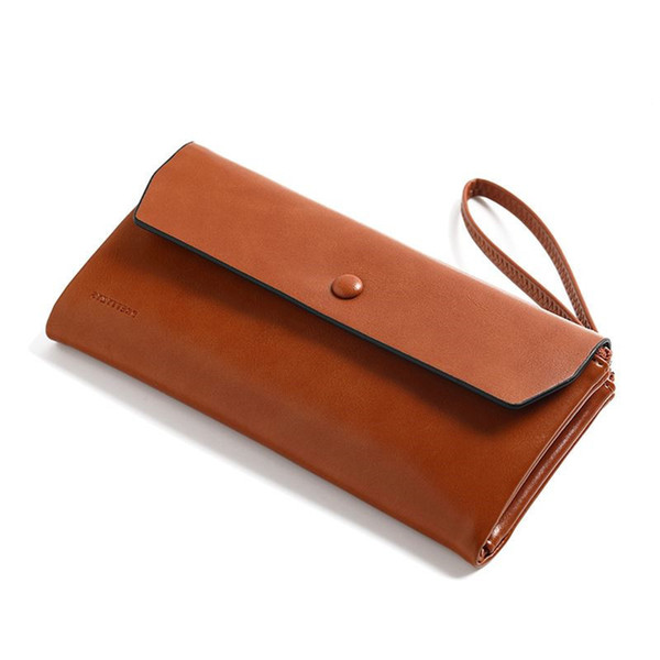 New Women Wallet Pu Leather Card Coin Holder Money Clip Long Clutch Phone Wristlet Trifold Zipper Cash Photo Brand Female Purse