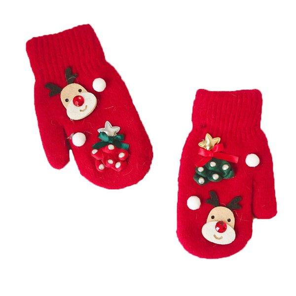 Children Girls Boys Magic Kids Elastic Mittens Knitted Gloves Winter Warmer