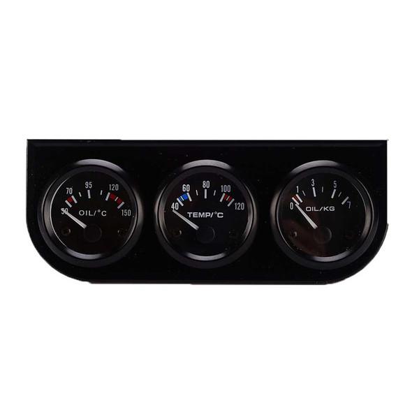 Cars Oil Water Temperature Oil Pressure Meter 3 in 1 Autos Meter Instrument