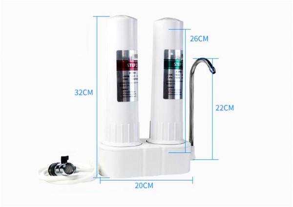 Ionizador de agua alcalina uso externo bebida sanitaria sistema de agua máquina de 2 etapas purificador de filtro de agua