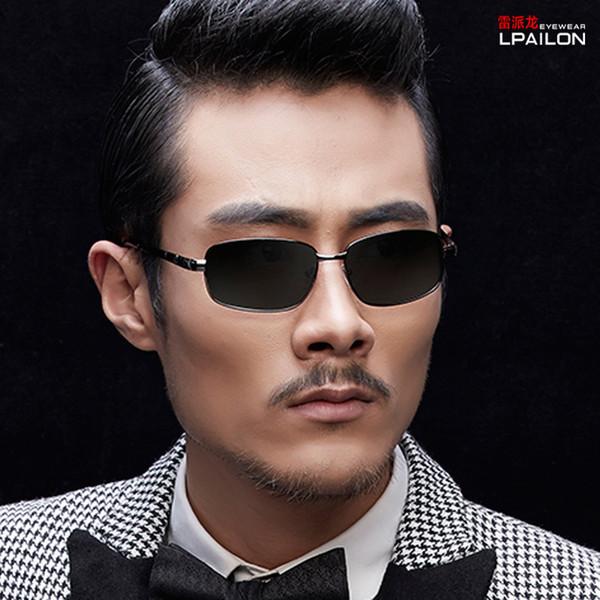 LPAILON 2019 para hombre Enfriar marco gafas de sol polarizadas de metal masculino Eyewears Hombres Polariezer Gafas de sol sin la caja 5056
