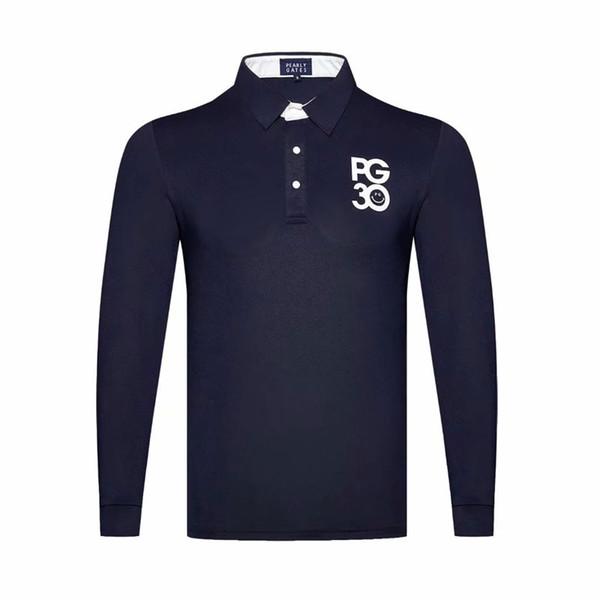 best selling 2019 New Men Dust_Proof Golf Shirt Latest Spring summer PG Golf sports shirt Full Sleeves Anti-Pilling Full Golf T-Shirt Free shipping