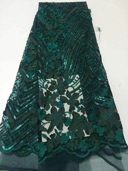 New Net Embroidery African Lace Fabric Women's Clothing French Voile Lace Cloth for wedding dress!