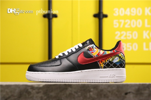 AF1 Force Air 1 LOW red hook CK0732-081 11 2019 NEW HOT Top Quality Men Sports Basketball Shoe Mens Sneakers Shoes Women Running Casual GYM