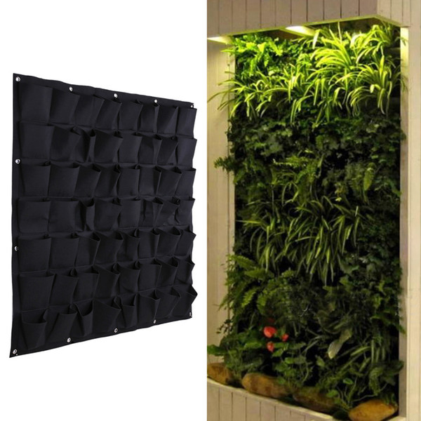 56 Tasca Grow Borse Outdoor Verticale Verticale Appeso a parete Garden Plant Bags Wall Planter Indoor Outdoor Herb Pot Decor Ptsp