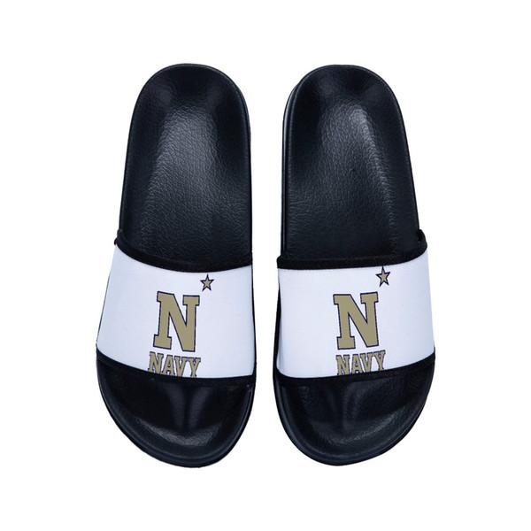 Pantoufles confortables d'été de plage d'intérieur de marine unisexe faits sur commande de femmes / hommes unisexes de marine de PL