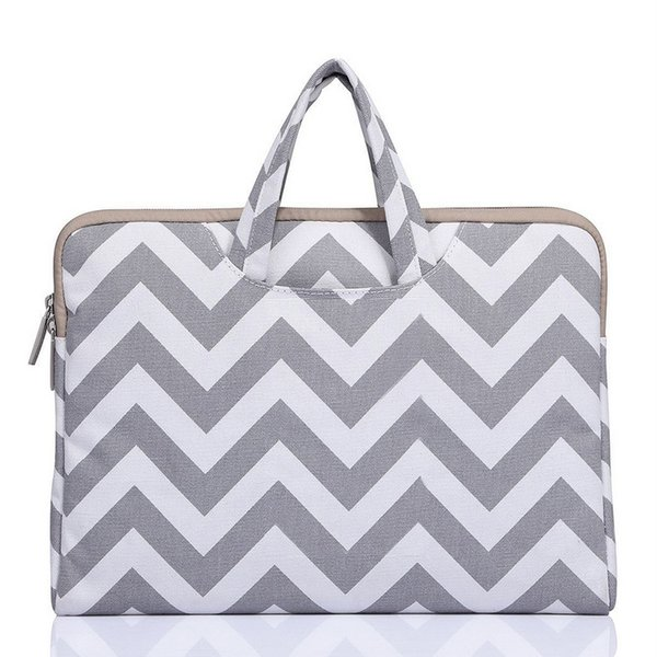 Wave stripe Laptop Bag Notebook Bag 13.3 15 Case For 2018 New Macbook Pro 13 15 Laptop Sleeve15 inch Women Men Handbag