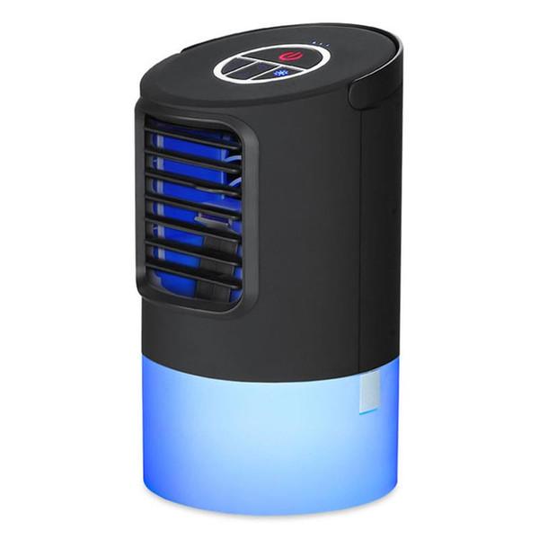 BRELONG Desktop Air Conditioner Fan Silent Spray Humidifier Summer Humidification Air-Cooled Fan Night Lihgt White / Black