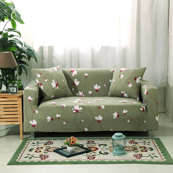 Ablerfly Stretch Wing Chair Covers,Elegant Floral Printed Armchair Covers Elastic Wingback Chair Slipcovers,Non-Slip Armchair Cover Protector heathly