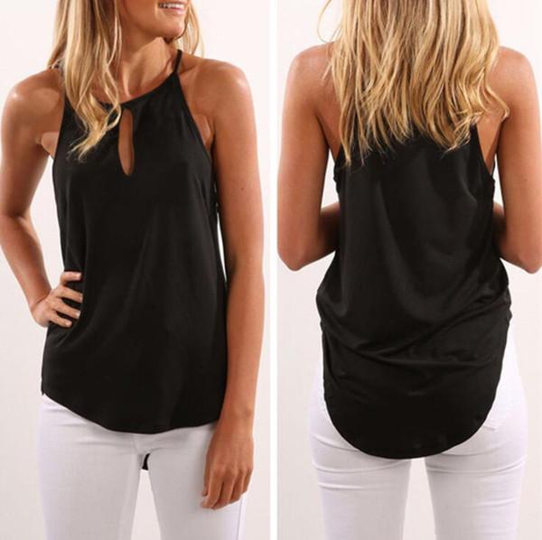 Designer de Mulheres Tops de Verão Respirável Sexy Lady Camis Nova Moda Feminina Tees Roupas 4 Cores S-XL Tamanho Atacado