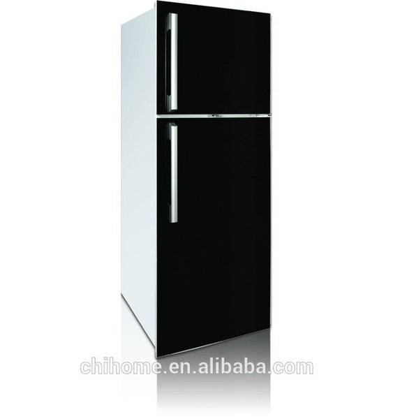 Glastür Kühlschrank 350L außerhalb Verdampfer mit Glastürgriff optional