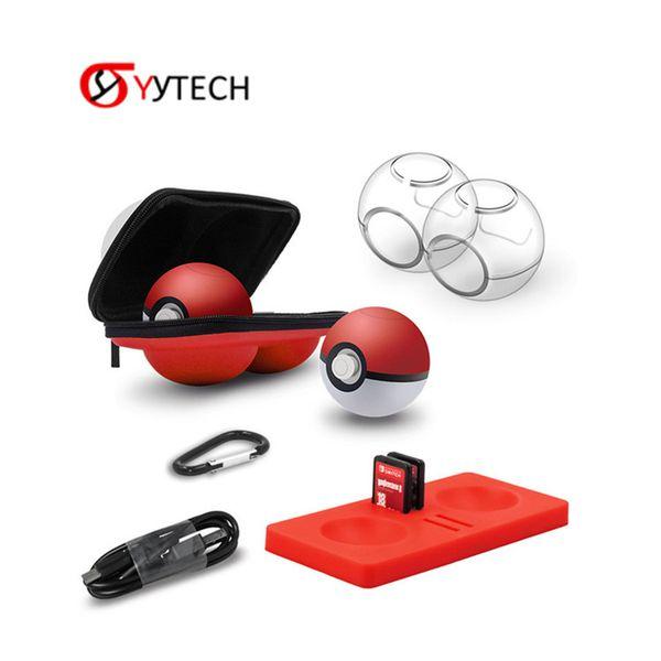 SYYTECH 6 in 1 Portable Storage Protector Case Bag case the EVA Ball Bag Sprite Ball Protective for Switch NS Sprite Ball