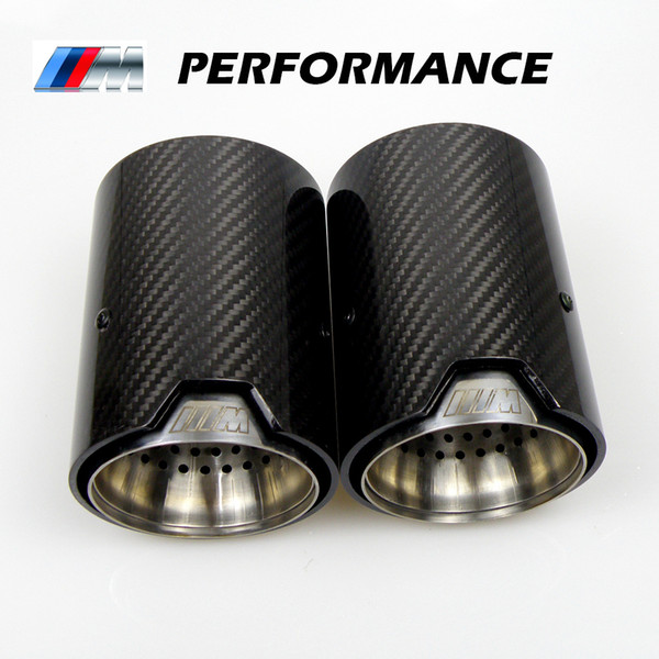 best selling 2PCS Real Carbon Fiber Exhaust Pipe Muffler tip For BMW M Performance exhaust pipe M2 F87 M3 F80 M4 F82 F83 M5 F10 M6 F12 F13