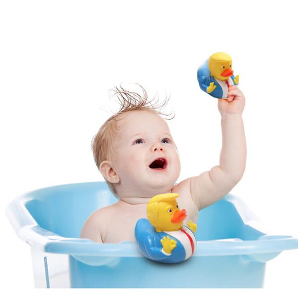 Trump Bath Canard Jouet Douche Eau Flottant Parodie US Président Canard En Caoutchouc Bébé Drôle Jouets Eau Jouet Douche Canard Nouveauté Cadeau