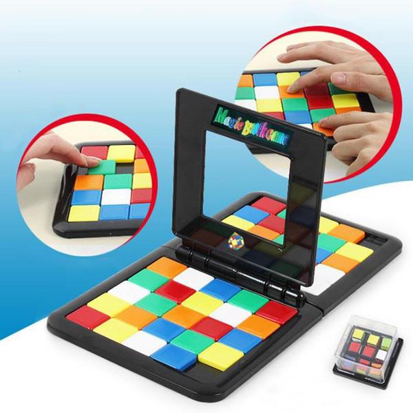 Nuovo Race Board Game padre-figlio scorrere Cub 1pc doppio Competence cubo del gioco di puzzle divertente festa di famiglia di Magic Toys Puzzle S'