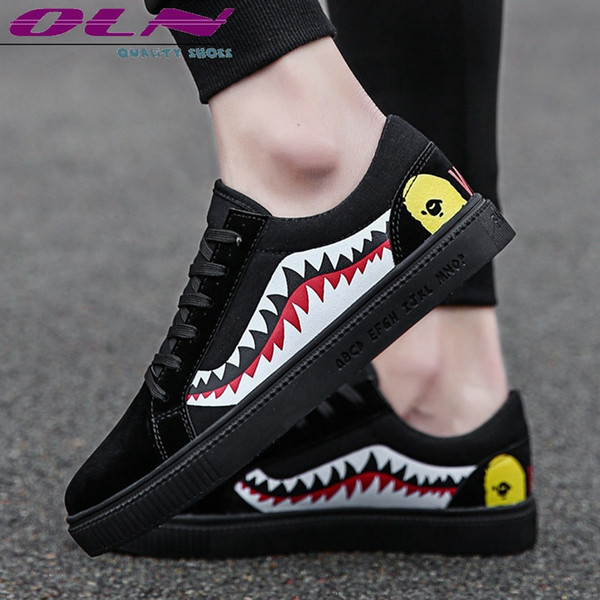 7075acde7ee New Fashion Casual Shoes Men 2018 Lace Up Flats Sports Male PU Sneakers  Outdoor Trendy Board Shoe Jogging Quality Boots Hot Sale #54959 Mens  Sandals ...