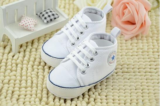 10% off cheap wholsale Kids Baby Sports Shoes Boy Girl White canvas shoes First Walkers Sneakers Baby Infant Soft sole walker Shoes