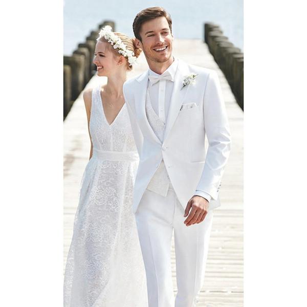 Herrenanzug eleganter Herrenanzug dreiteiliger Anzug (Jacke + Hose + Weste) jetzt beliebte neue Hochzeit Bräutigam Groomsmen Kleid benutzerdefinierte