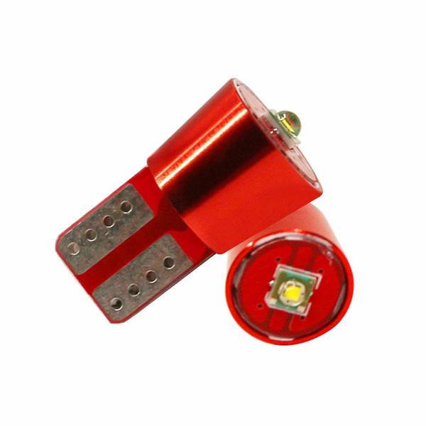 T10 1SMD Cree Led Chip Error Free Canbus Bulb Super White For Car Wedge Light DC 12V 2Pcs High Power