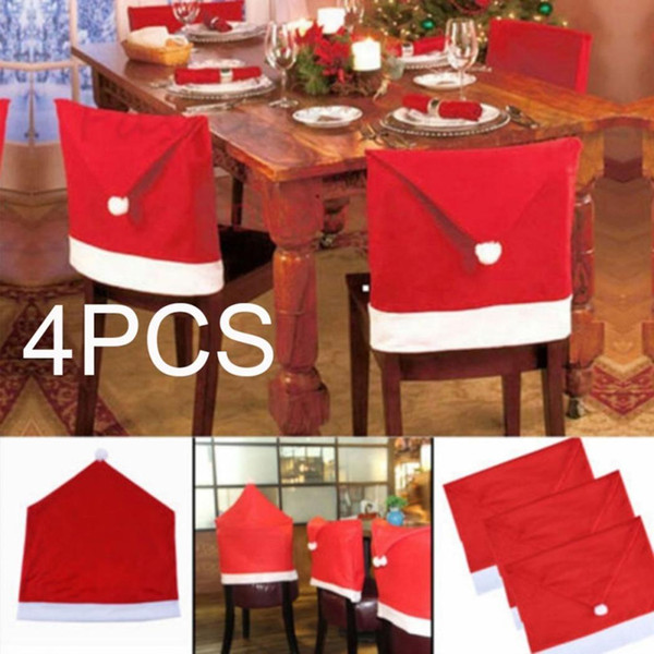 Cartoon Christmas Hat Shape DIY Chair Cover Home Party Red Home, Bar,  Restaurant, Etc Decoration Tablecloth And Chair Covers Slipcover For Dining  ...