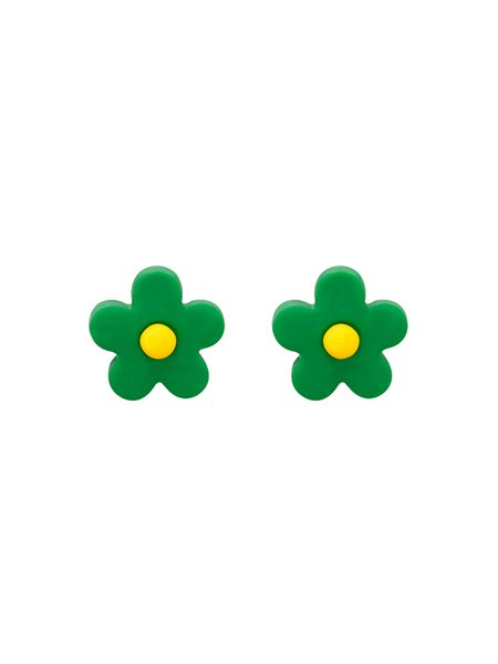 Inspanyafeng Girl Flower-Ear Clamp Colour Soft Pottery Korean Earrings Children's Fun Candy Colour Lovely Ear Nail E936