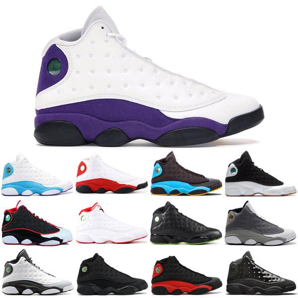 Высокое качество 13 мужская баскетбольная обувь Кепка и платье ФИОЛЕТОВЫЙ СУД Низкая чатни 13s sprots обувь дизайнерские кроссовки