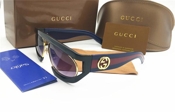 2019 Occhiali da sole oversize famosi Occhiali da vista trendy grandi Occhiali da sole con lenti graduate di alta qualità con protezione UV