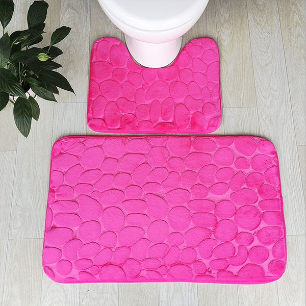Groovy 2019 5 Solid Colors Bath Mats Toilet Seat Cover Mat Quality Bathroom Rugs Anti Slip Toilet Rugs Soft Flannel Wc Bath Mat From Cindy668 14 8 Bralicious Painted Fabric Chair Ideas Braliciousco