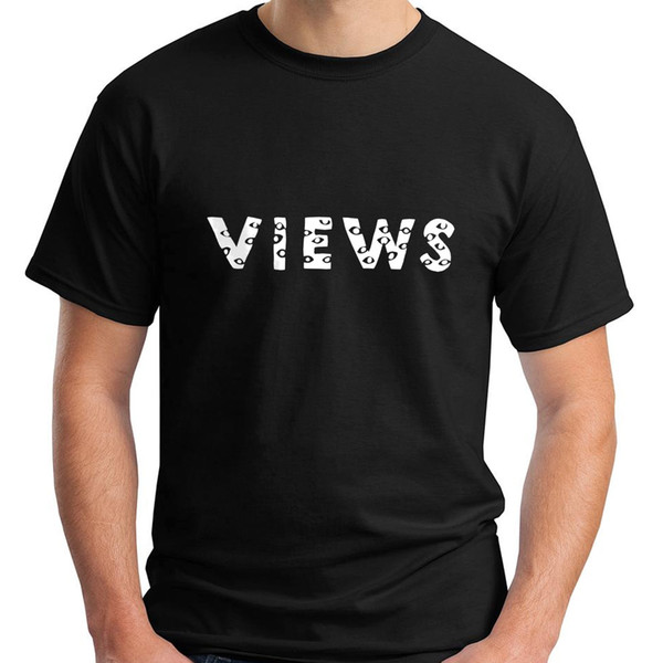 Views From The Six Hoodie Drake Views From The 6 Black Men's T-Shirt Size S-3XL Summer 2018 Short Sleeve Plus Size T Shirt