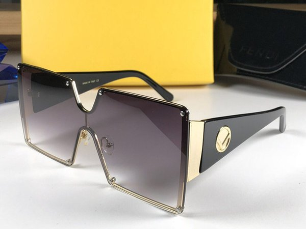 Womens brand fashion designer sunglasses 0369 big square Frameless simple Monolithic style glasses uv400 lens protection top quality eyewear