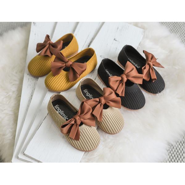 Mädchen Designer Bogen Prinzessin Schuhe 2019 Herbst Neue Baby Kleinkind Schuhe Kinder Luxus Erste Wanderer Mädchen Freizeitschuhe