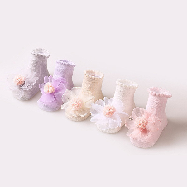 2019 Newborn Baby Girl Cute Socks Cotton Lace Flower Princess Socks Party Infant Cotton Children Soft Crib 0-3Y