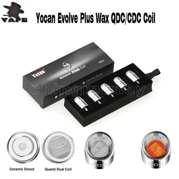Bobine di ricambio originali Yocan per Yocan Evolve Kit di Yocan Evolve Plus Quartz QDC Dual coil Bobine di anelli in ceramica 100% autentico