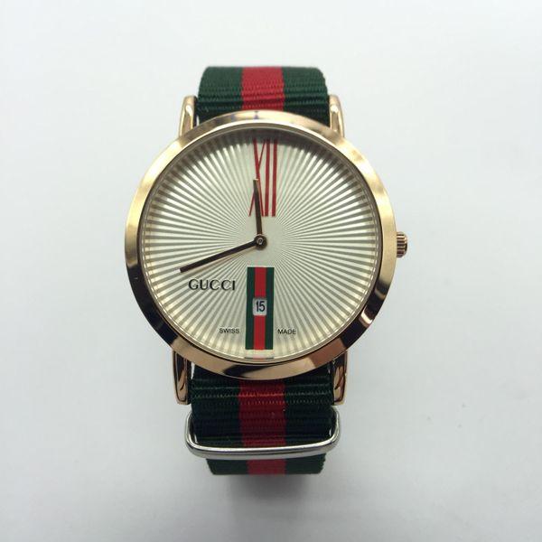 Montre de luxe 40mm Männer Uhren Marke Luxus 36mm Frauen Quarz Datum Uhren Reloj Hombre Mode Nylonband Designer Uhr