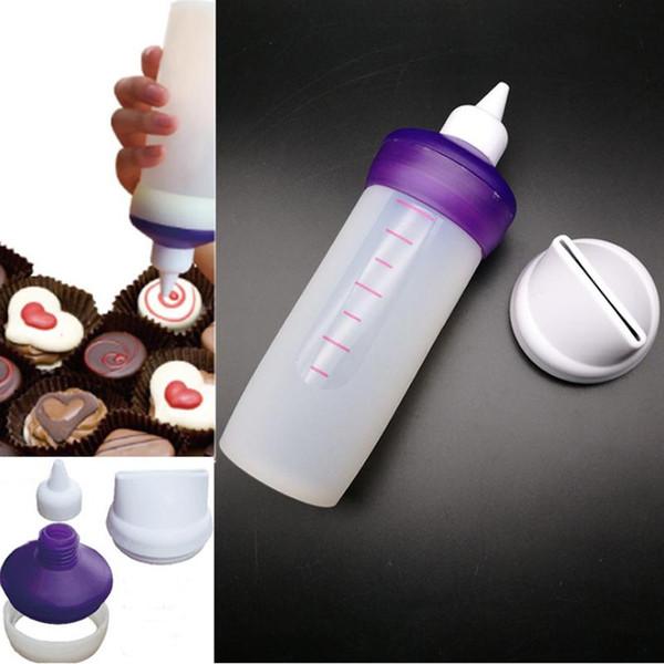 100Pcs / lot Silikon Bakeware Süßigkeit Schmelzen Dekorieren Squeeze-Flasche Küchenzubehör Kuchen-Werkzeuge Set