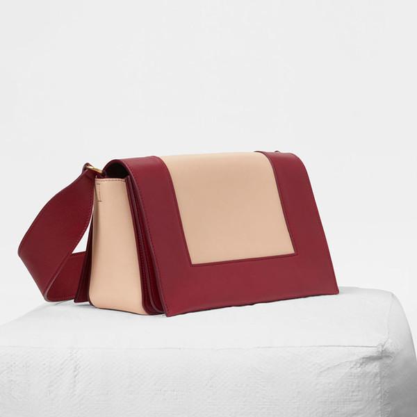 designer handbags women handbags wallet flight attendant handbag women bags high quality crossbody bag vintage leather shoulder bag burgundy