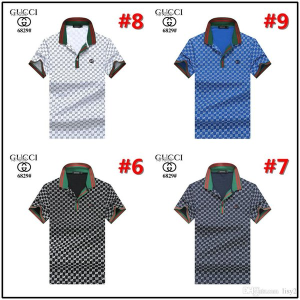 Mens Luxury Polo Shirts Bees Embroidery Classic Striped Polos Slim Fit Male Brand T Shirts Short Sleeve Tops