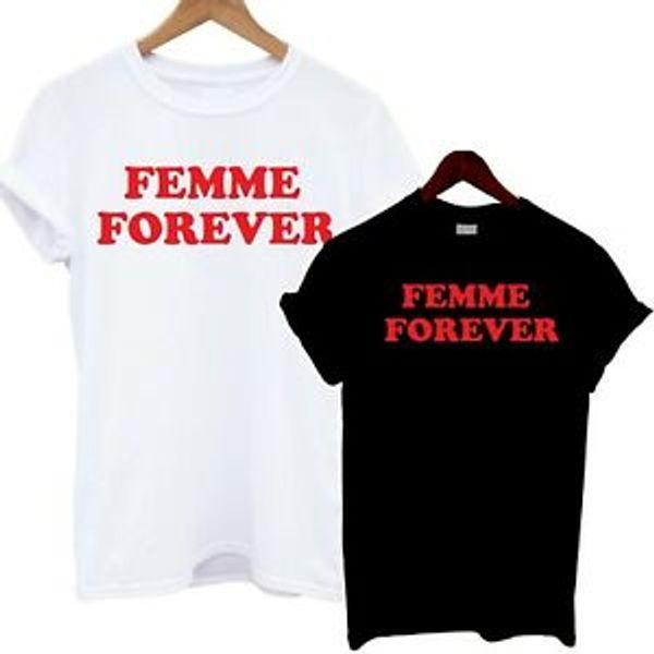 Femme Sonsuza T Gömlek Kırmızı Baskı Moda Tee Sloganı Üst Blogcular Tumblr Slouch
