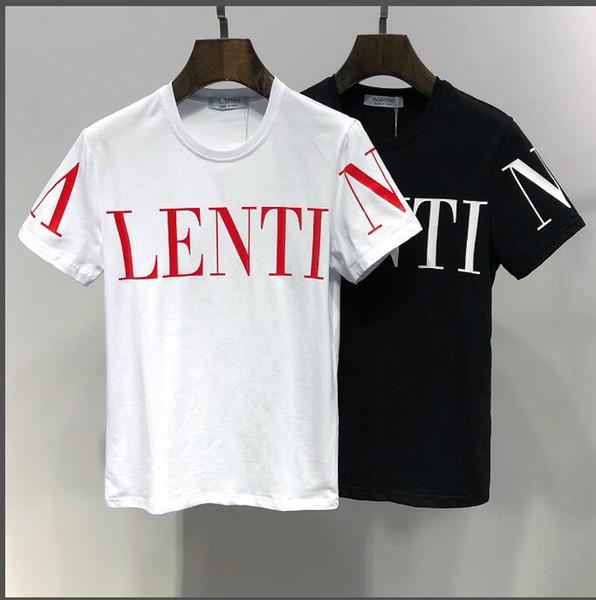 2019 Verano Nueva Llegada de Calidad Superior Diseñador Valen Ropa de Hombre Camisetas de Mujer Imprimir Tees M-3XL 6404