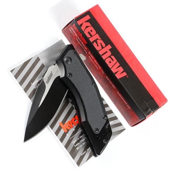 Kershaw AXIS fija cuchillos tácticos plegables 8Cr13Mov Blade steel Gran tamaño caza Caza Supervivencia Cuchillos de bolsillo Utilidad Herramientas manuales EDC
