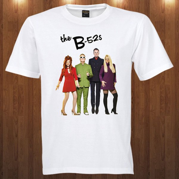 The B-52's tee New wave band Kate Pierson , CindyWilson S M L XL 2XL 3XL T-shirt Cartoon t shirt men Unisex New