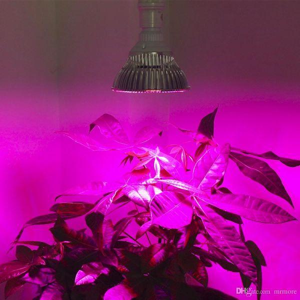 10X E27 Invernadero led crece ligero 15W 21W 27W 36W 45W 54W LED Lámpara de cultivo para plantas Flor Planta orquídeas plántulas Sistema de hidroponía