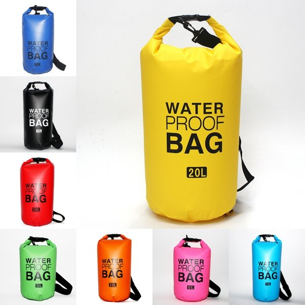 9 Colors Waterproof Dry Bag For Swimming Clothes Durable Waterproof Storage Bags Travel Luggage For Camping Hiking Boating Fishing M245Y