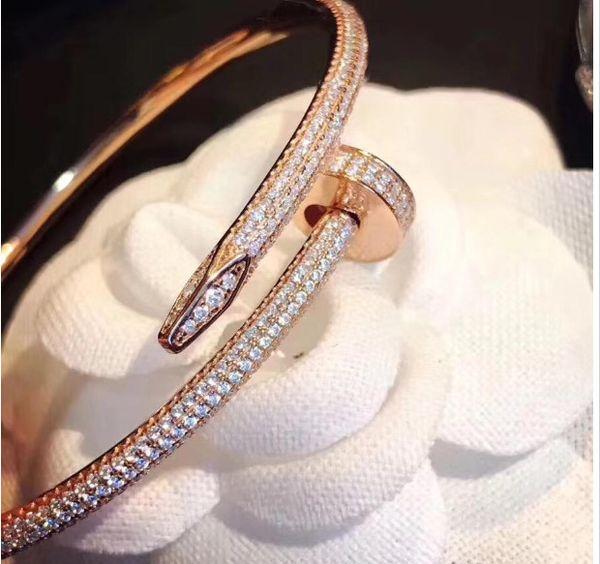 Luxury Designer Jewelry High Quality Silver Rose Gold Men's and Women's Diamond Bracelet Ice Out Chain Men's Bracelet Jewelry Women's Bracel