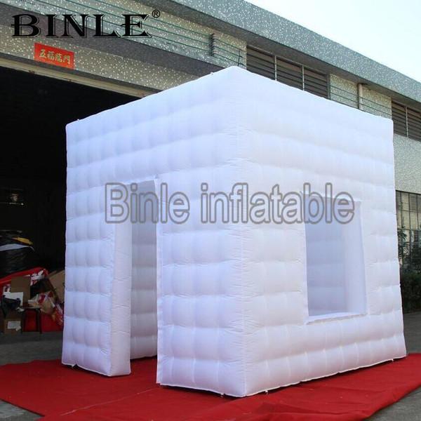 Alta qualidade 3mx3mx3mH LED inflável photo booth portátil inflável photo booth enclosure with window for sale