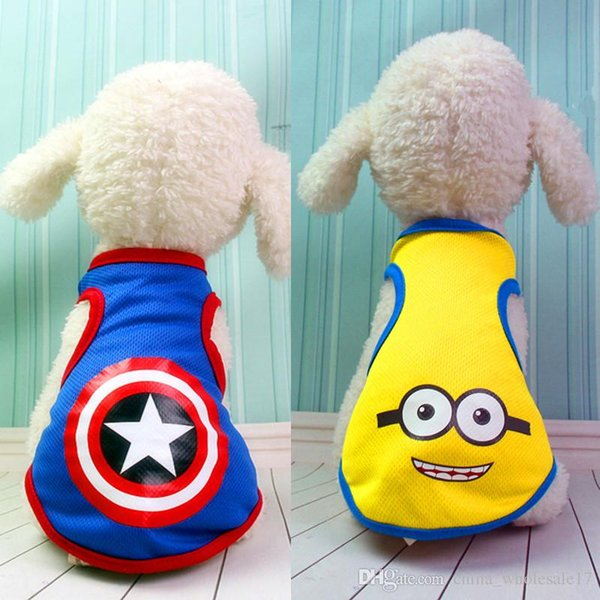 Dog clothes four feet wei clothing winter new Yellow man kt cat American Captain Dog Clothes