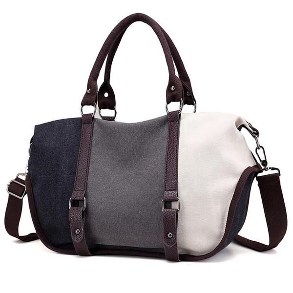Großhandel 2019 Bunte Streifen Damen Frauen Handtaschen Damen Crossbody Taschen Für Frauen Umhängetaschen Leinwand Weiblichen Tote Sac A Main Von