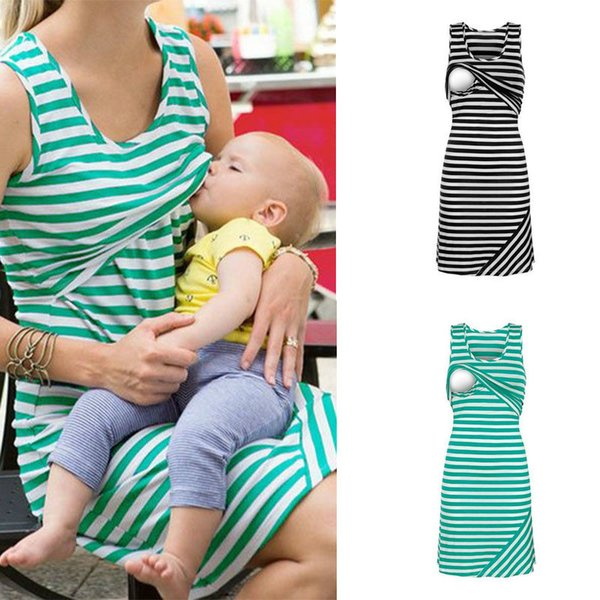 2019 Casual Nursing Breastfeeding Clothes Sleeveless Loose Plus Size Short  Nursing Breastfeeding Tops Dress From Mart04, $7.94 | DHgate.Com